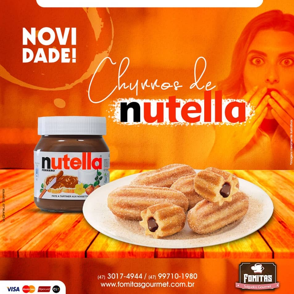 Churros de Nutella
